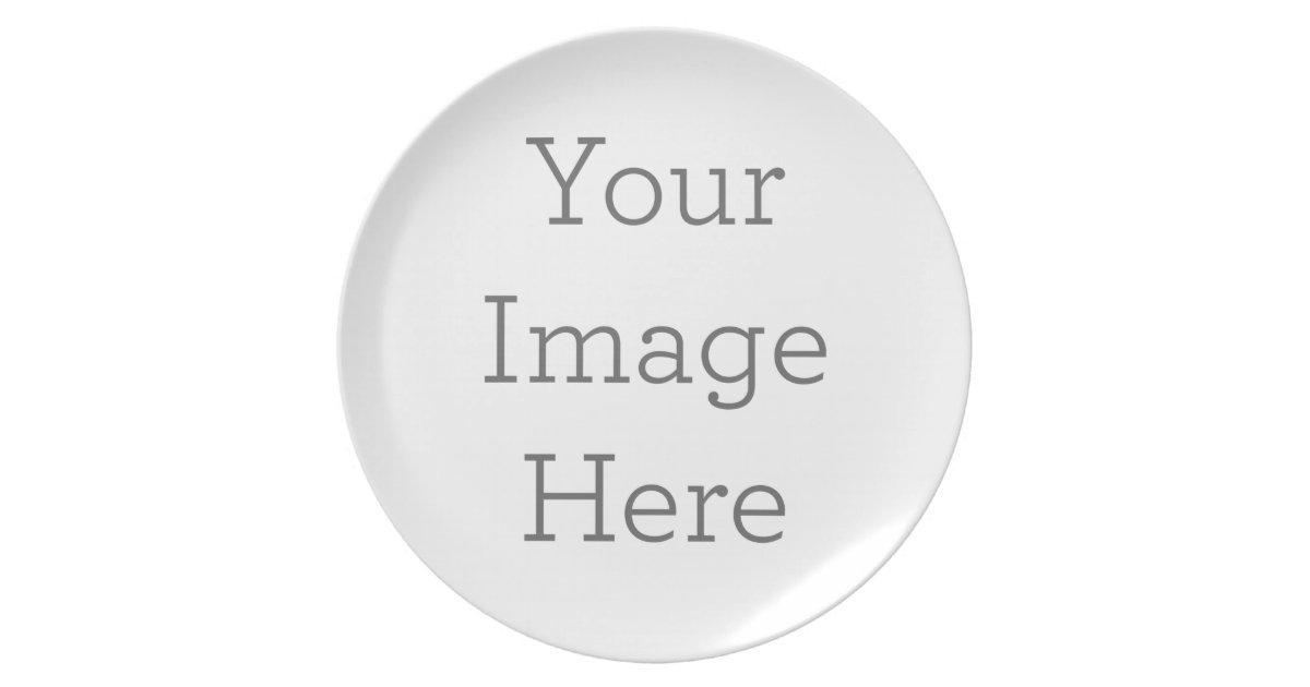 create your own melamine plate zazzle com