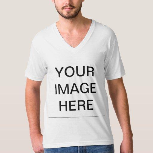 Men 39 S American Apparel Fine Jersey V Neck T Shirt Zazzle