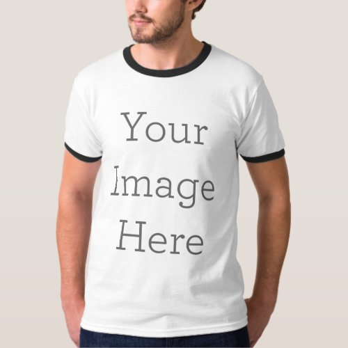 Create Your Own Mens Basic Ringer T_Shirt