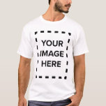 """Create Your Own Men's Basic Short Sleeve T-Shirt<br><div class=""""desc"""">Go with a classic white tee, or pick from a rainbow of colors, either way, any t-shirt design you can imagine is possible with these custom t-shirts. Do you have an ironic phrase or silly picture you want to add to create your own funny t-shirt? Or are cool t-shirts you...</div>"""