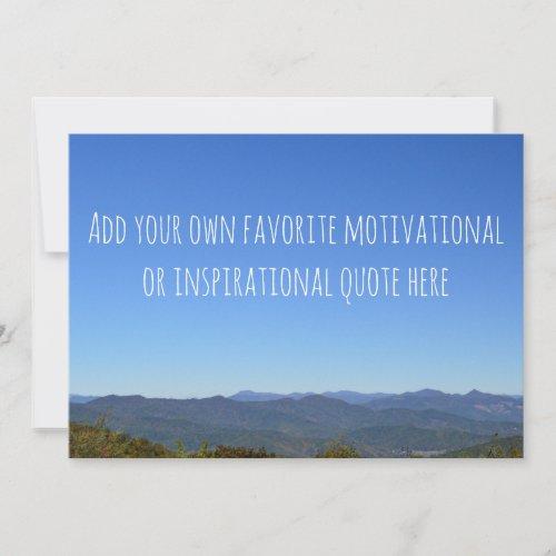 Create Your Own Message Scenic Mountain Horizon