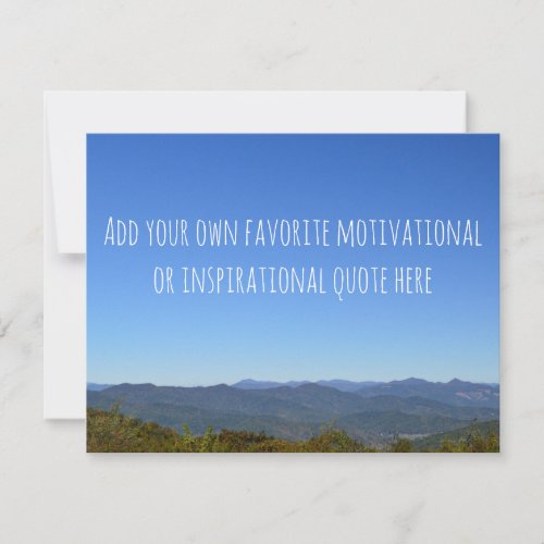 Create Your Own Message Scenic Mountain Horizon Card