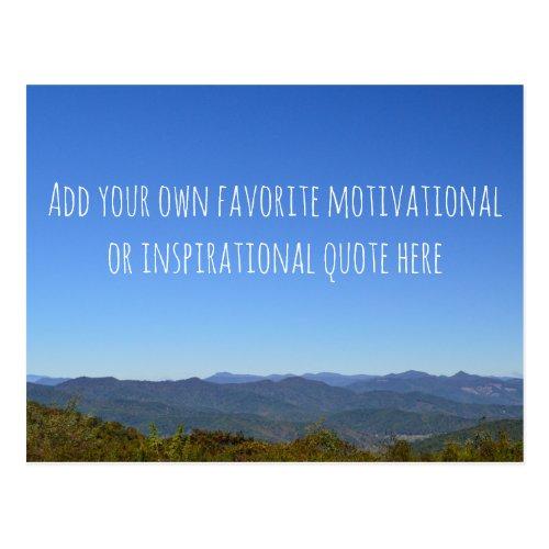 Create Your Own Message Scenic Mountain Horizon Postcard