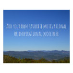 Create Your Own Message Scenic Mountain Horizon Poster