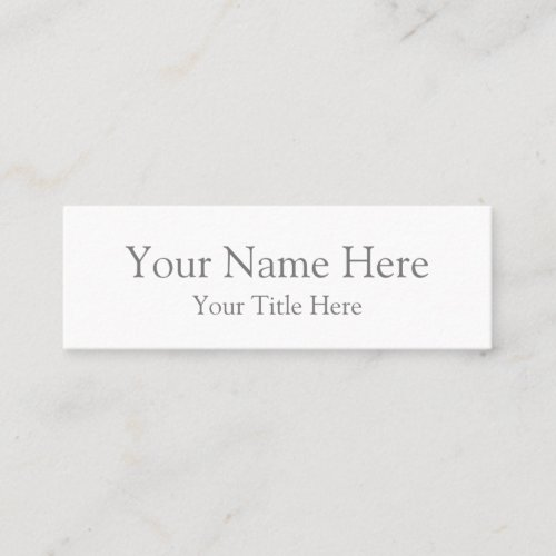 Create Your Own Mini Business Card