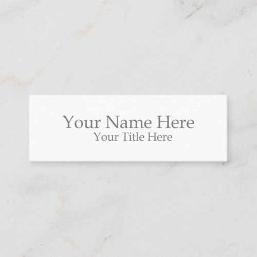 Create Your Own Mini Mini Business Card
