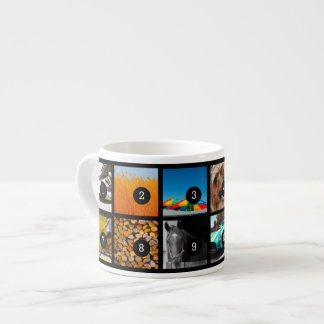 Create Your Own Mini Photo Album with 12 images! Espresso Cup