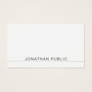 Create Your Own Minimalist Elegant Modern Plain Business Card