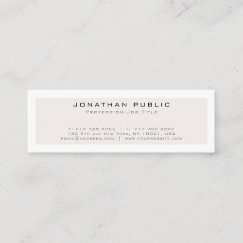 Create Your Own Modern Elegant Minimalistic Design Mini Business Card