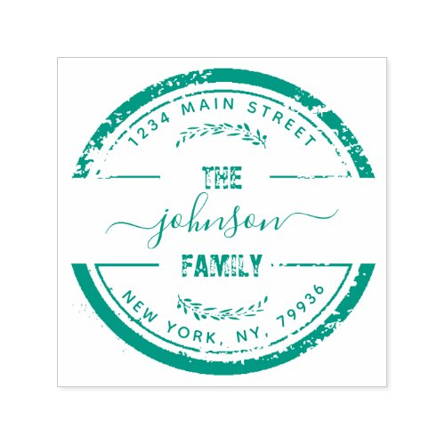 Create Your Own Modern Family Name Return Address Self_inking Stamp
