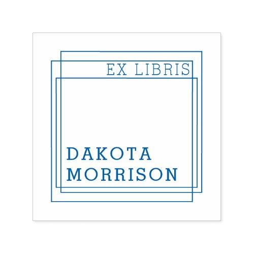 Create Your Own Modern Geometric Ex Libris Name Self_inking Stamp