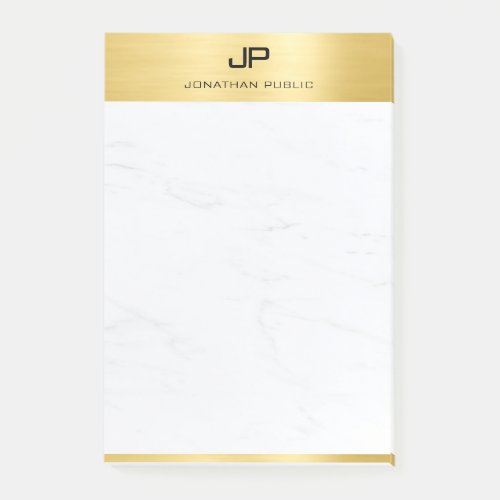 Create Your Own Modern Gold Marble Template Post_it Notes