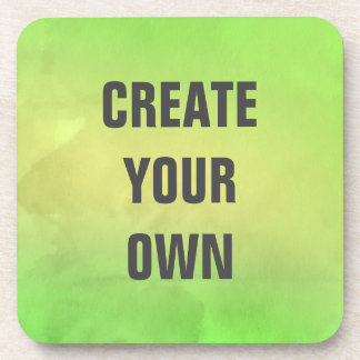 Create Your Own Modern Green Watercolor Painting Coaster