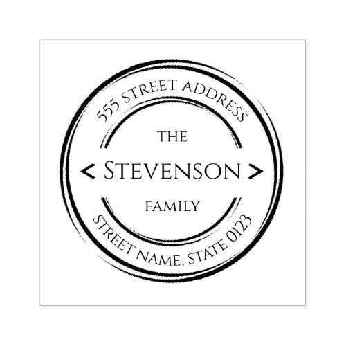 Create your own modern last name rubber stamp