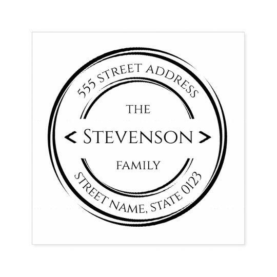 Design Your Own Rubber Stamp: Create Your Own Modern Last Name Rubber Stamp