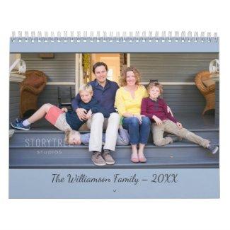 Create Your Own Modern Light Blue Cover 2020 Photo Calendar