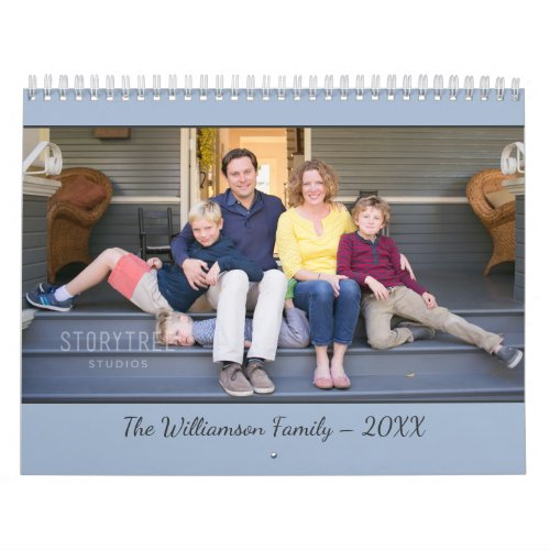 Create Your Own Modern Light Blue Cover 2020 Photo Calendar