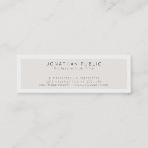Create Your Own Modern Minimalist Elegant Design Mini Business Card