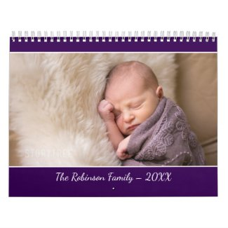 Create Your Own Modern Purple Cover 2019 Photo Calendar
