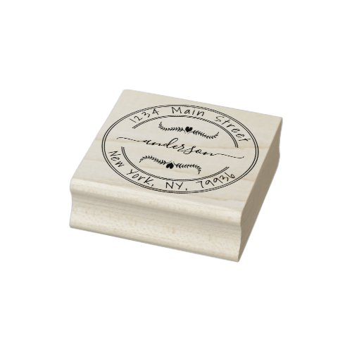Create Your Own Modern Round Return Address Rubber Stamp