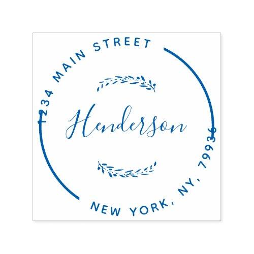 Create Your Own Modern Round Return Address Self_inking Stamp