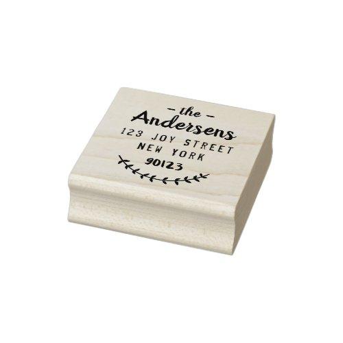 Create your own modern script sleek return address rubber stamp