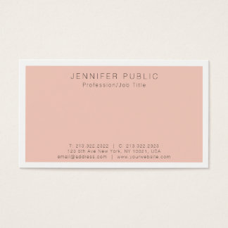 Create Your Own Modern Simple Elegant Plain Business Card