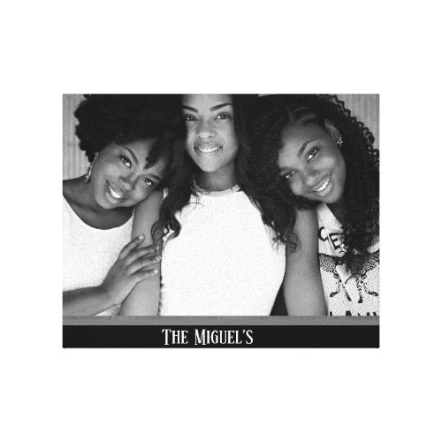 Create your own monogram family photo canvas print