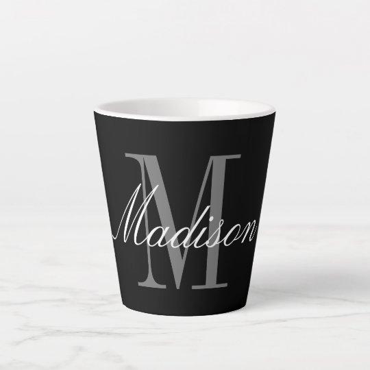 Create Your Own Monogram Initial Name Latte Mug