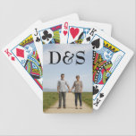 """Create Your Own Monogram Photo Playing Cards<br><div class=""""desc"""">Customize playing cards with your favorite photo of you and your loved one. Simply click """"Customize"""" to get started.</div>"""
