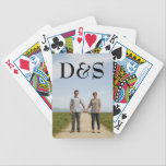 "Create Your Own Monogram Photo Playing Cards<br><div class=""desc"">Customize playing cards with your favorite photo of you and your loved one. Simply click &quot;Customize&quot; to get started.</div>"