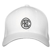 Create Your Own Monogram Text Baseball Cap