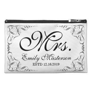 Create Your Own Mr Mrs His Hers Wedding Monogram Travel Accessory Bag