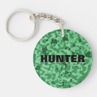 Create Your Own Name Green Military Camouflage Keychain