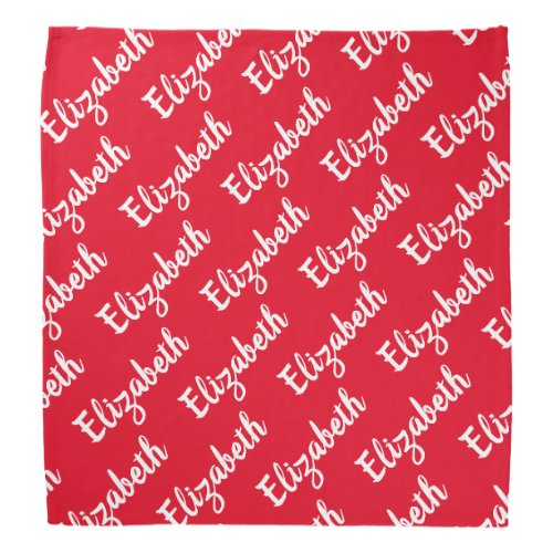 Create Your Own Name Personalized Bandana