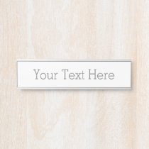Create Your Own Name Plate