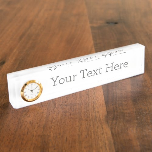 Create Your Own Nameplate With Clock