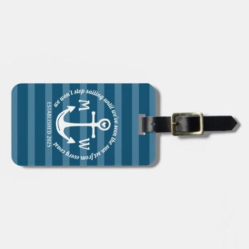 Create Your Own Nautical Anchor Heart Coastal Logo Luggage Tag