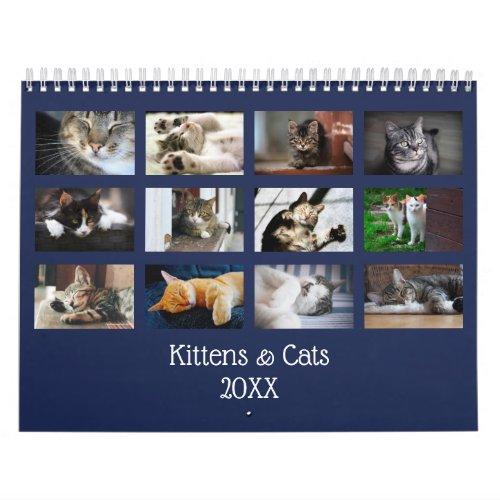 Create Your Own Navy Blue Cover 2020 Photo Calendar