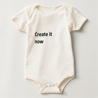 Create your own now baby bodysuit