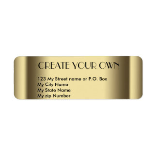 Create Your Own old gold return address Label, Labels
