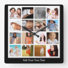 Create Your Own One Of A Kind Personalized Square Wall Clock