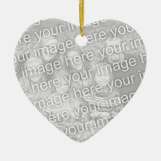 Create Your Own One-Sided Heart Photo Keepsake Ceramic Ornament