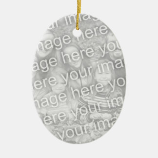 Create Your Own One-Sided Oval Photo Keepsake Ceramic Ornament