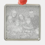 Create Your Own One-Sided Square Photo Keepsake Square Metal Christmas Ornament
