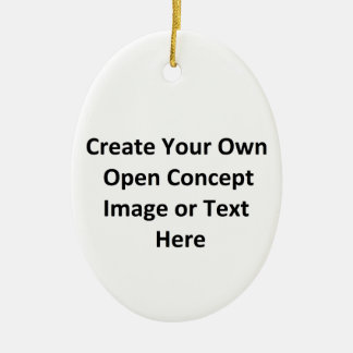 Create Your Own Open Concept Image or Text Here Double-Sided Oval Ceramic Christmas Ornament