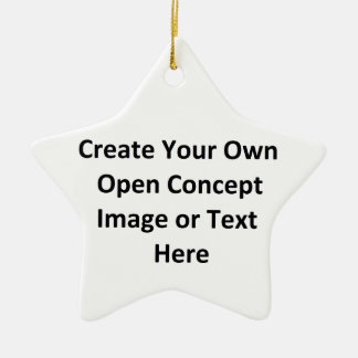 Create Your Own Open Concept Image or Text Here Double-Sided Star Ceramic Christmas Ornament