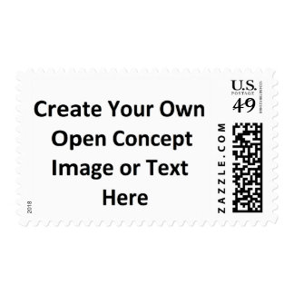 Create Your Own Open Concept Image or Text Here Postage