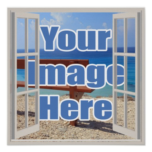 Create your own open window personalized poster zazzle for Build your own window