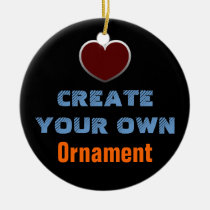 make, design, create, your, own, custom, personal, personalize, blank, template, Ornament with custom graphic design